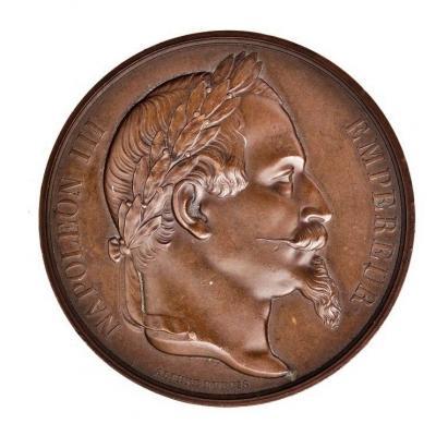 Alphee Dubois-rare Napoleon III Bronze Medal