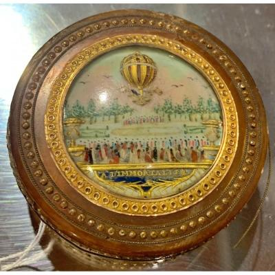 """""""the Immortalite"""" Montgolfier Brothers French Box 1783"""