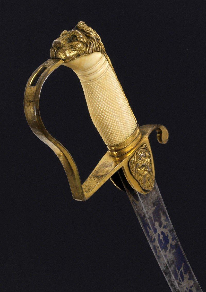 Sabre Britannique Pour Officier De La Marine, Période George III.-photo-1