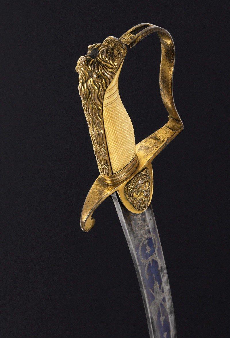 Sabre Britannique Pour Officier De La Marine, Période George III.-photo-2