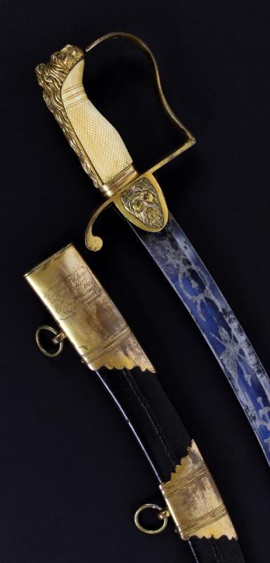 Sabre Britannique Pour Officier De La Marine, Période George III.-photo-3