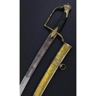 Sabre d'Officier De Cavalerie Légère. France, Période Consulat - 1er Empire Napoléonien.