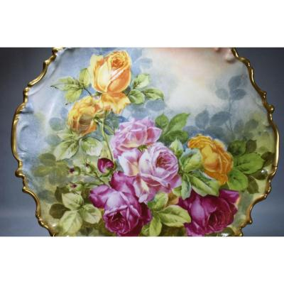 Grand Plat porcelaine de Limoges Golse