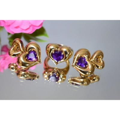 Van Cleef Gold And Amethyst Set