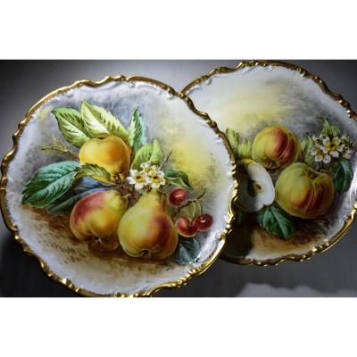 Pair Of Limoges Porcelain Dishes