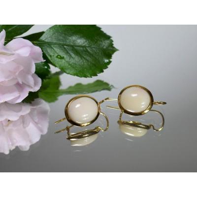 Satsuma Coral Earrings