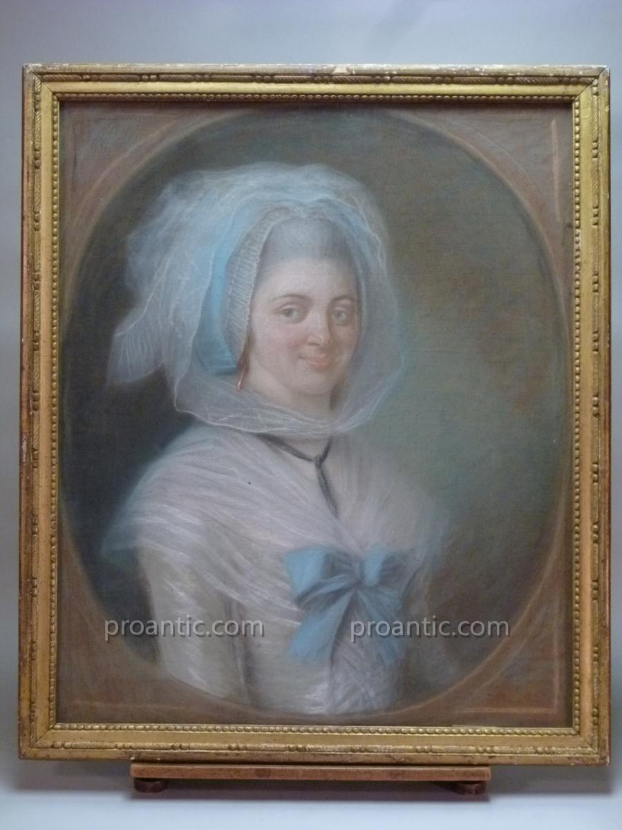 Portrait De Femme, Pastel, XVIIIè Siècle.