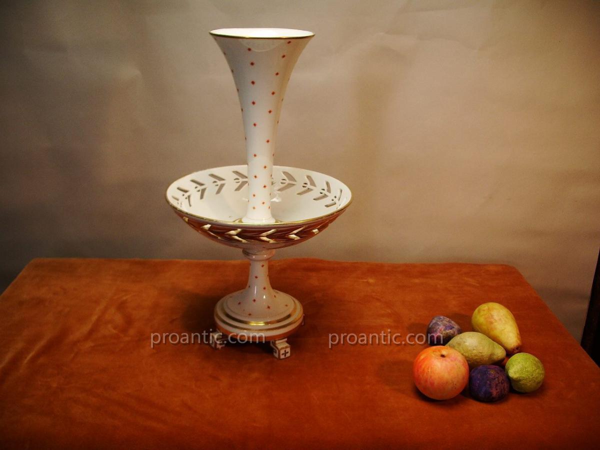 Coupe à Fruit, Porcelaine,19ème.-photo-2