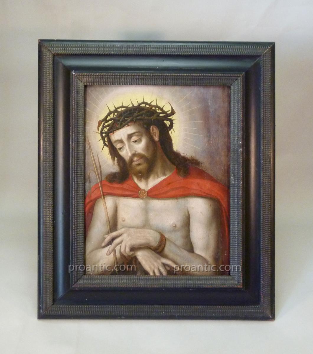 Ecce Homo, Christ Aux Liens, peinture 17ème Siècle