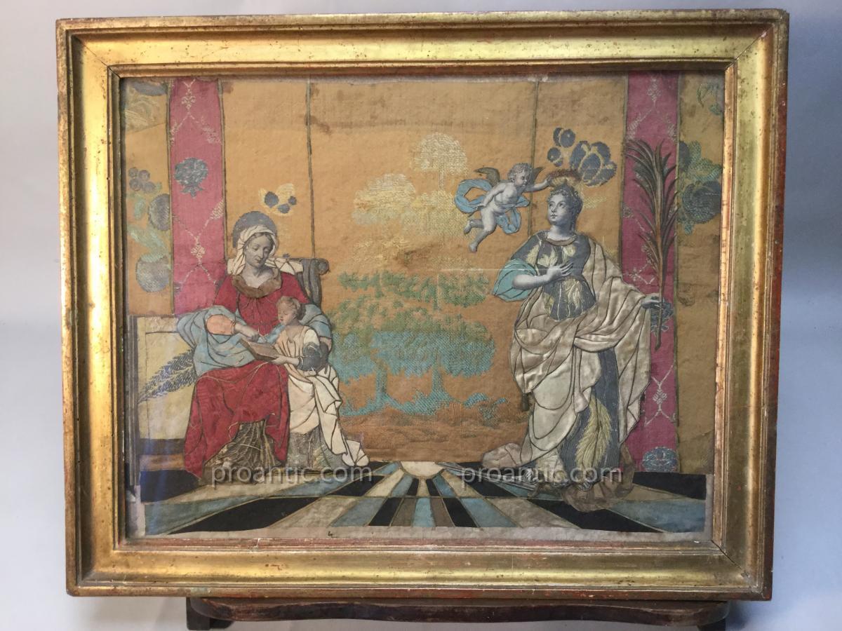 Sainte Anne Et Sainte Catherine, Habillés, 18ème.