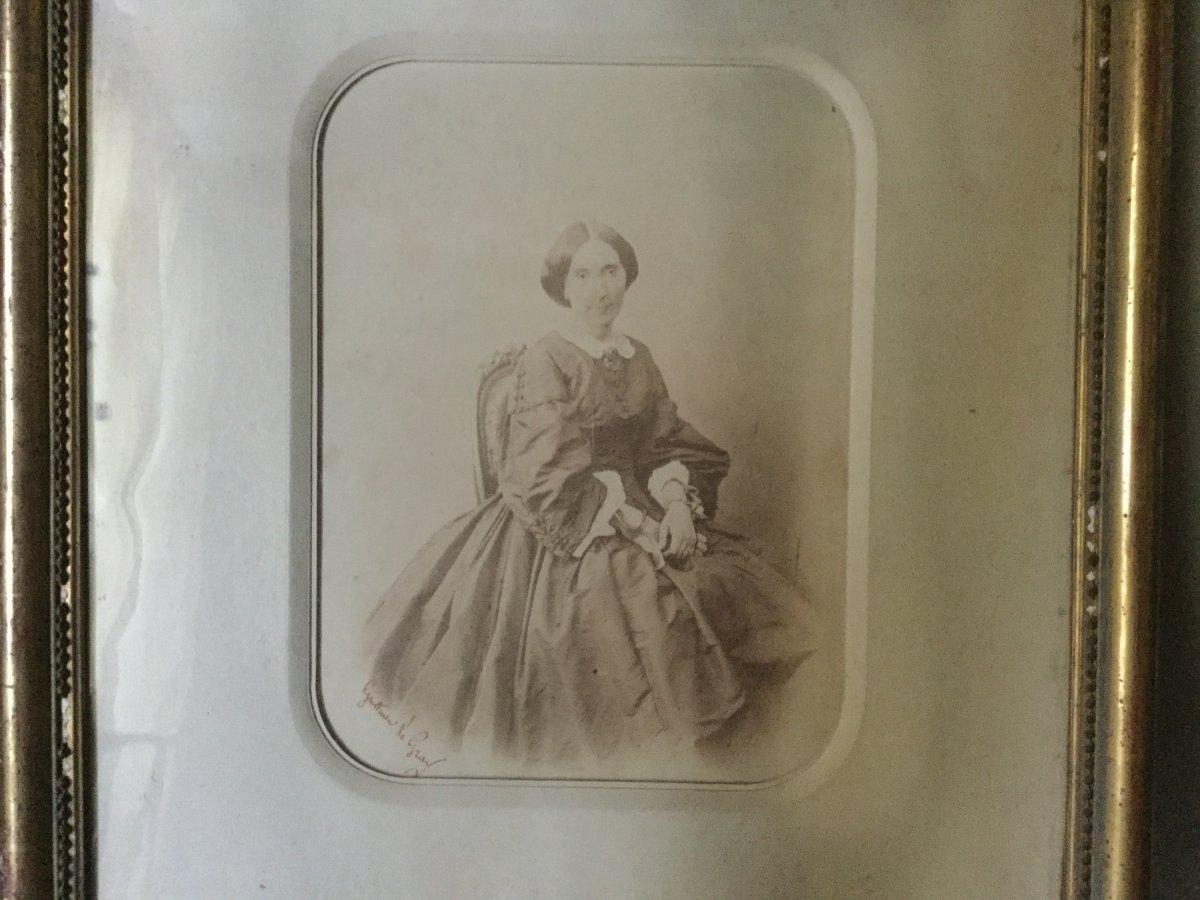 Le Gray, Portrait De Femme, Photographie, 19ème Siècle.