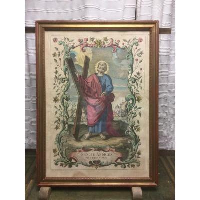 Saint Andrew, Popular Image, 18th Century.