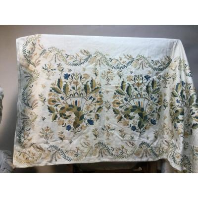 Embroidered Shawl, 19th Century.