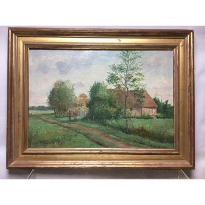 Norman Landscape, Oil On Canvas, 19th.