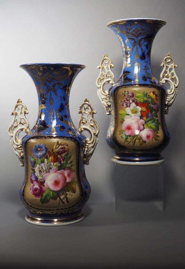 "Pair Of Vases ""paradisiacs Gardens"""