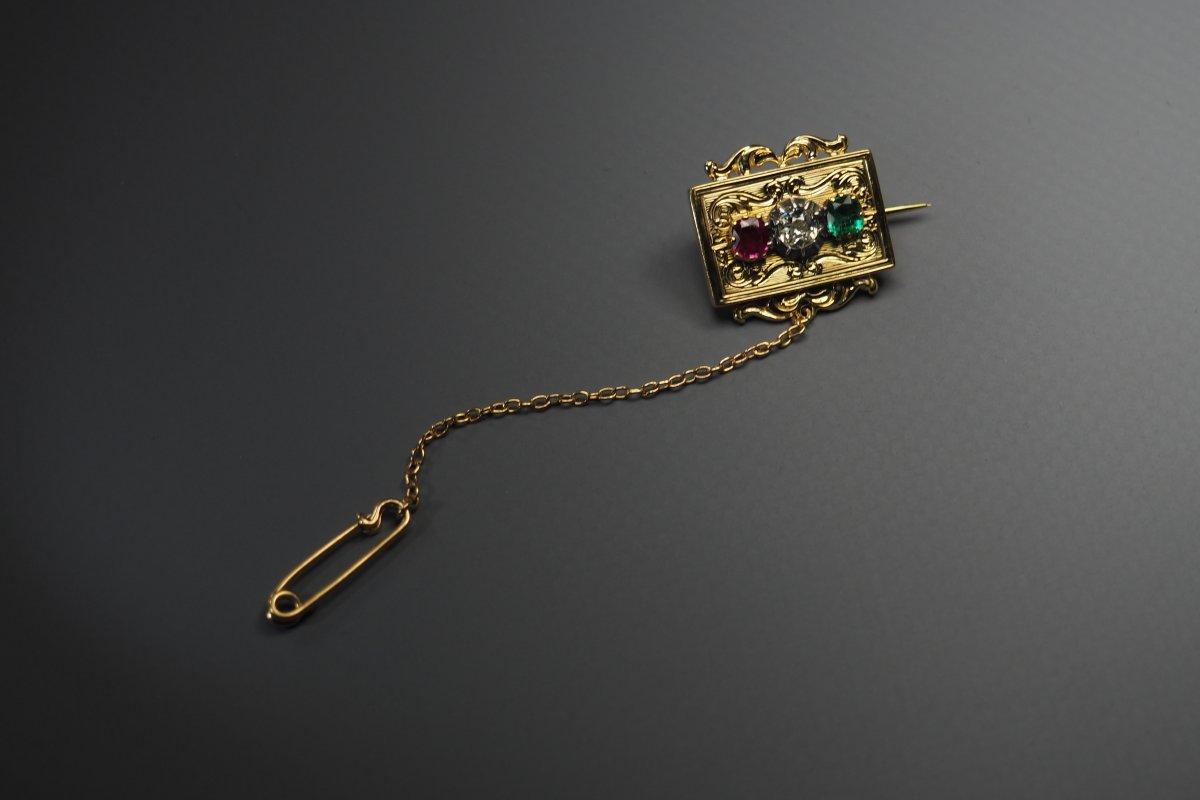 Brooch In 18 Karat Yellow Gold (750)-photo-2