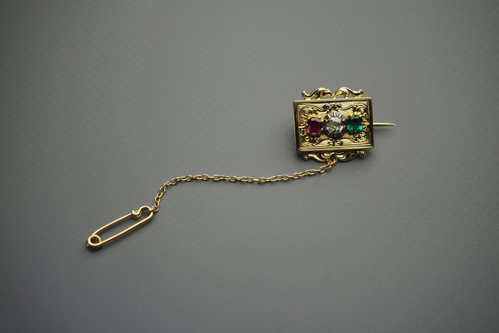 Brooch In 18 Karat Yellow Gold (750)-photo-3