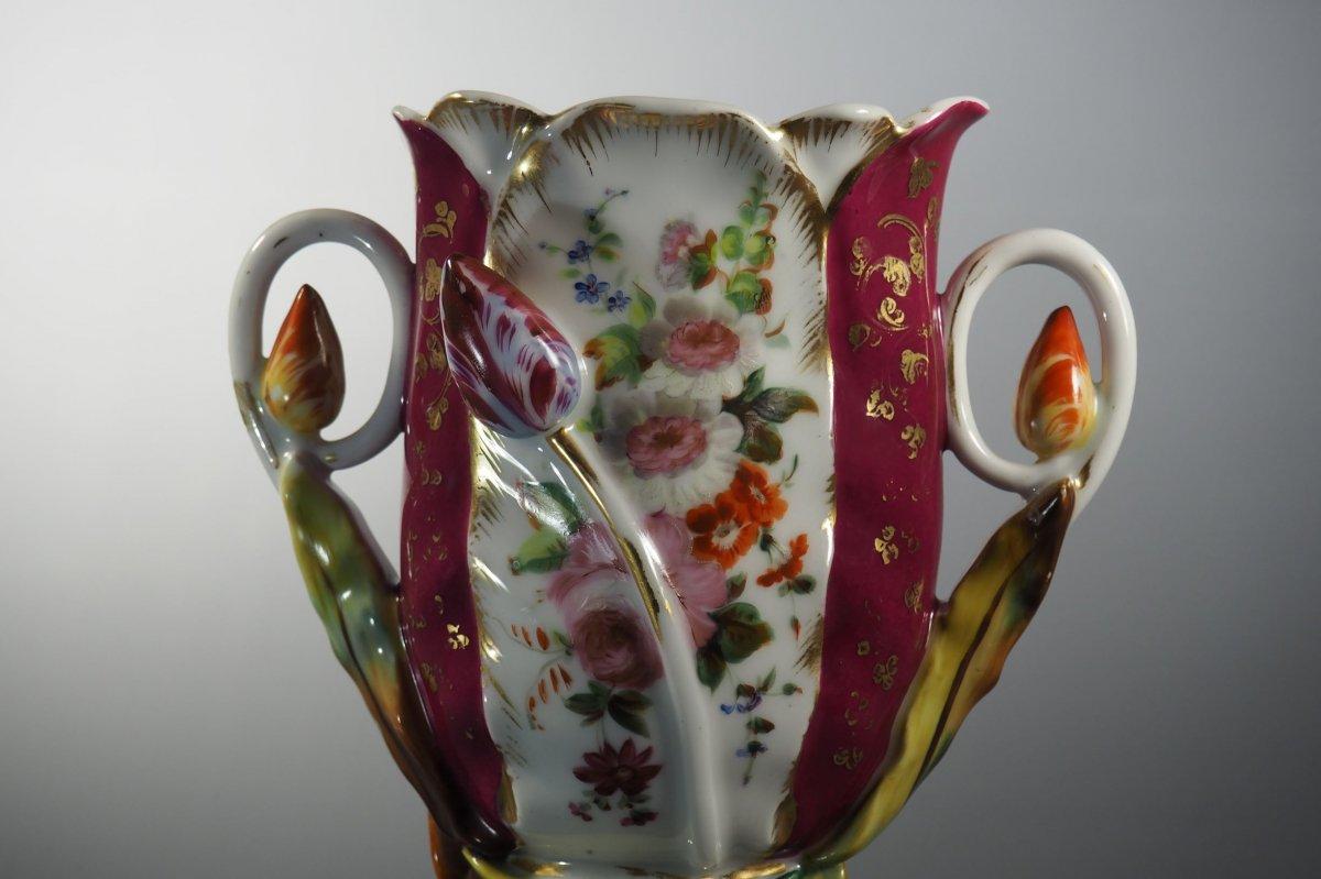 Paris Porcelain Wedding Vase, 19th Century.