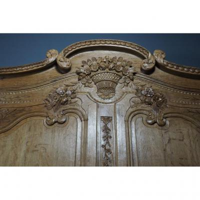 Norman 19th Century Carved Oak Wardrobe