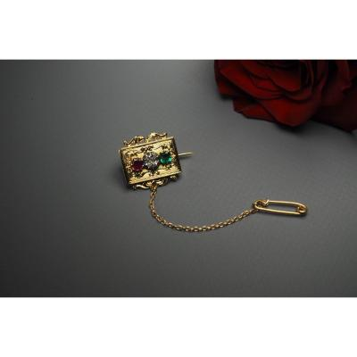 Brooch In 18 Karat Yellow Gold (750)