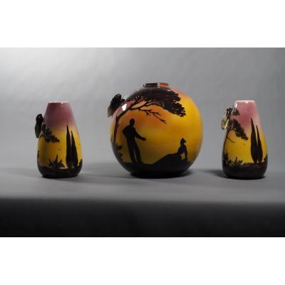 Vases Marseille Earthenware Saint-jean Du Désert
