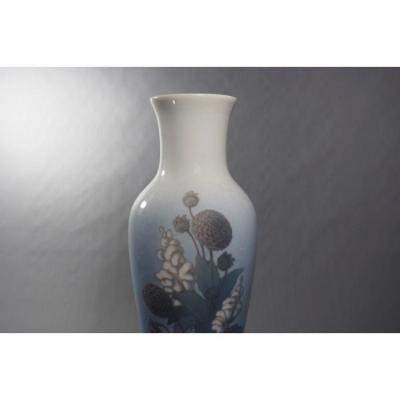 Vase En Porcelaine Polychrome émaillée Signé Catherine Helene Zernichow