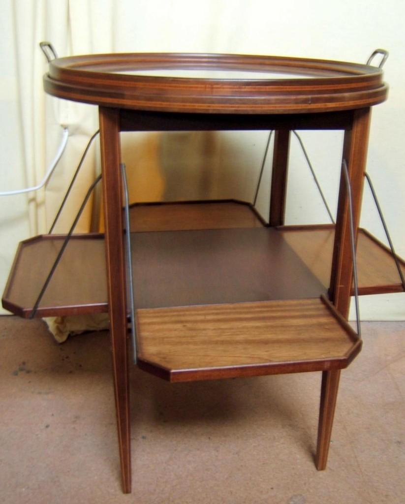 Serving Table A Serving Mahogany Massive Blond Era Art Deco Tilt Dimensions