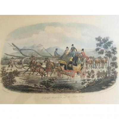 Gravure Aquatinte Gb Race Team Newhouse London 1834 Par Thomas Mc Lean