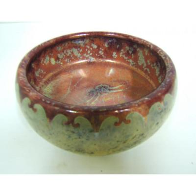 Jade Cup Gres Flame Irise Fly Canvas Spider Kg Luneville In 1890 Bussiere