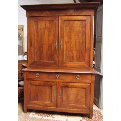 Buffet 2 Body Walnut Massif Epoque XIX Restoration