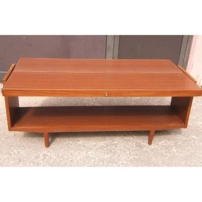 Grande Table  Modulable Scandinave  Meuble Presentoir  1960 Vintage