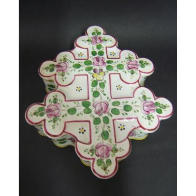 Box Cross Of Lorraine Sign St Clement Nineteenth Decor Flowers Hand Painted Periode Galle