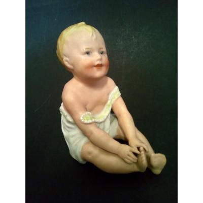 Piano Baby In German Biscuit Freres Heubach 1900