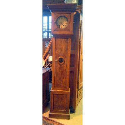 Floor Clock Comtoise Black Forest Mechanism Wood And Metal Epoque XIXème