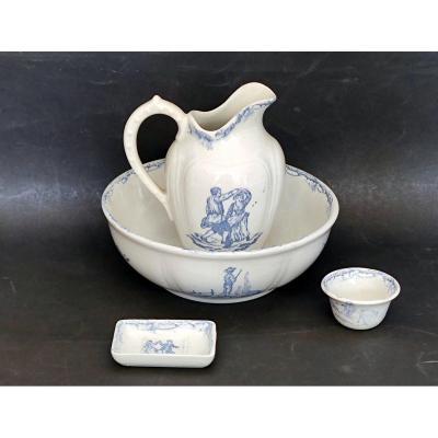 Dinette Set Of Toilet Kg Luneville Round And Children's Games Period 1900
