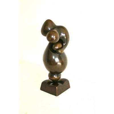 Bronze Sculpture, Maternity, Signed Igor Balarin, 20th