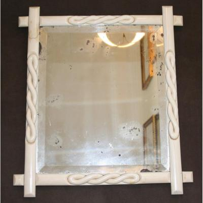 19th C. Ivory Table Mirror