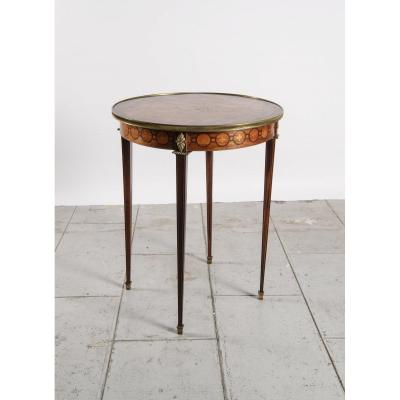 Round Pedestal Table - Beautiful Marquetry