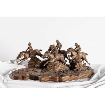 Sculpture Tierce Chevaux - Maltête