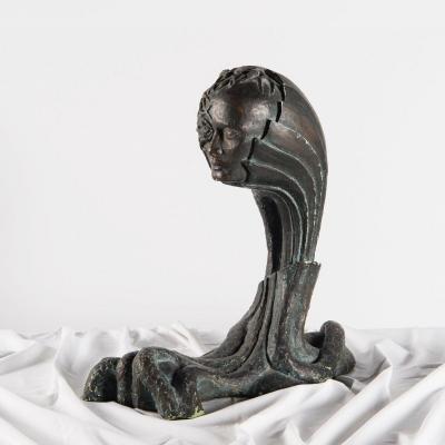 Statue Platre Bronze / Allegory