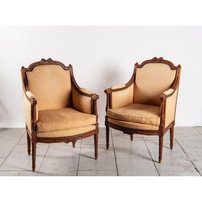 Pair Of Bergere Louis XVI Style