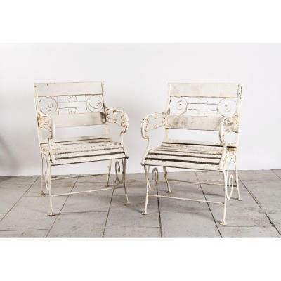 Pair Of Vichy Armchairs