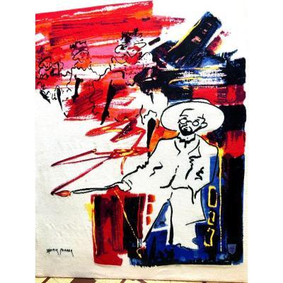 Grande Tapisserie Des Arts Tissés De France , De Casimir Ferrer , Hommage A Henri De Toulouse Lautrec