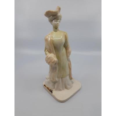 Sculpture Mougin Nancy - La Femme Au Manchon