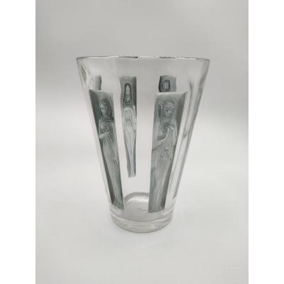 René Lalique - Vase Avec Six Figurines