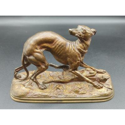 Jules Moigniez - The Winning Greyhound Against The Bronze Hare