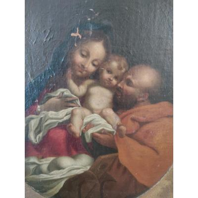 The Holy Family - Hst French School XVIIIth