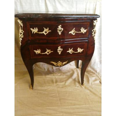 Regency Commode In Marquetry Of Violet, XVIII Century