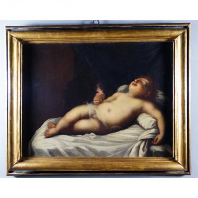 Enfant Jésus Endormi, Peinture Inhabituelle Du XVIIe Siècle