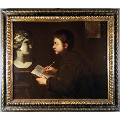 """""""allégorie Des Arts"""" Dans Une Peinture Lombarde Du XVIIIe Siècle"""